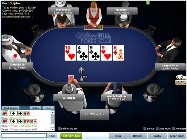 william hill online casino poker american