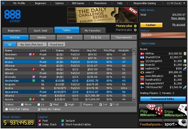 888poker casino