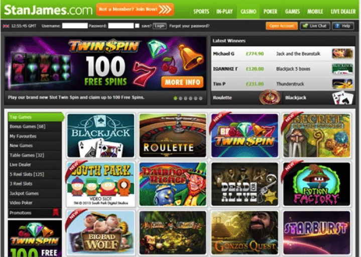 Stan James Casino 5 Free Spins