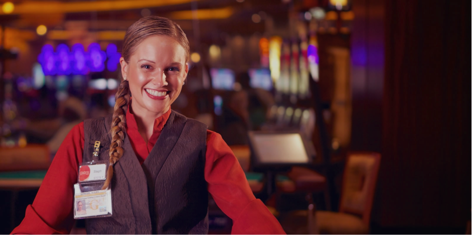 A: A slot attendant works in a casino, monitoring the slot machines.Your duties are to report machine glitches, distribute winnings when necessary, and handle complaints from unhappy players.Additionally, you are responsible for surveillance of your section.As the slot attendant, you monitor the area with the slot machines and report suspicious or unruly behavior.