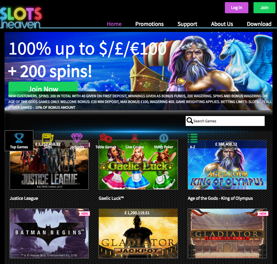 Slots Heaven Review